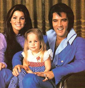 エルヴィス・プレスリーの家族(エルヴィス、プリシラ、リサ・マリー)
